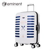 【EMINENT雅仕】海洋水手系列-高端印刷經典海洋元素PC旅行箱 行李箱_24吋
