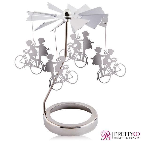 O Pretty 歐沛媞 歐式旋轉燭罩蠟燭台(銀)-男孩和女孩 限量加贈YANKEE CANDLE 香氛蠟燭【美麗購】