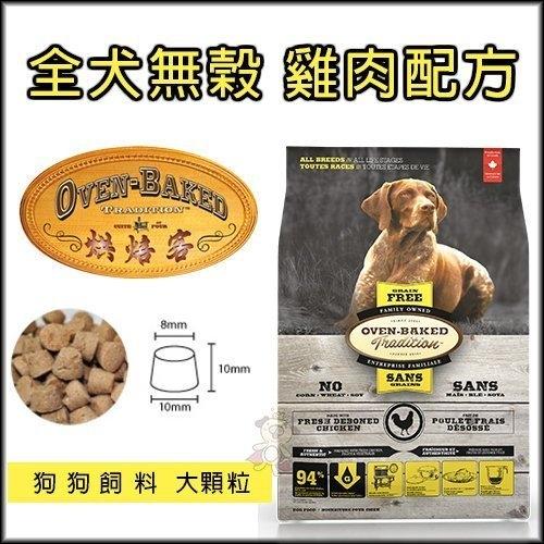 『寵喵樂旗艦店』烘焙客(非吃不可)Oven-Baked《全犬-無穀雞肉配方(大顆粒)》12.5磅