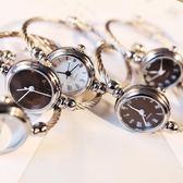 手錶手鐲式女開口中學生韓版簡約創意學院風潮流ulzzang女生錬條     米娜小鋪
