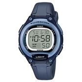【CASIO】10年電力經典輕巧便利好戴運動電子錶-藍X灰(LW-203-2A)