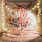 絨布背景布ins掛布掛毯裝飾臥室網紅少女風房間拍照布床頭牆壁布 小明同學