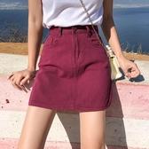 牛仔半身裙女2019夏季新款韓版chic復古百搭顯瘦原宿高腰a字短裙