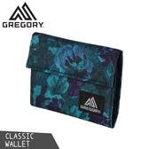 【GREGORY 美國 CLASSIC WALLET 經典款錢包《迷幻藍花》】65486/皮夾/皮包/零錢包/卡夾/短夾