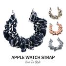 蘋果髮圈錶帶 Apple Watch 38/40/42/44mm 手錶替換錶帶 大腸圈彈力拉伸 造型款錶帶 條紋系列