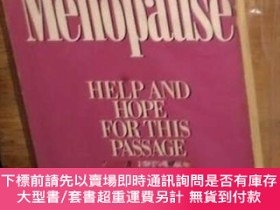 二手書博民逛書店英文原版罕見Menopause: Help and Hope for This Passage by Sally