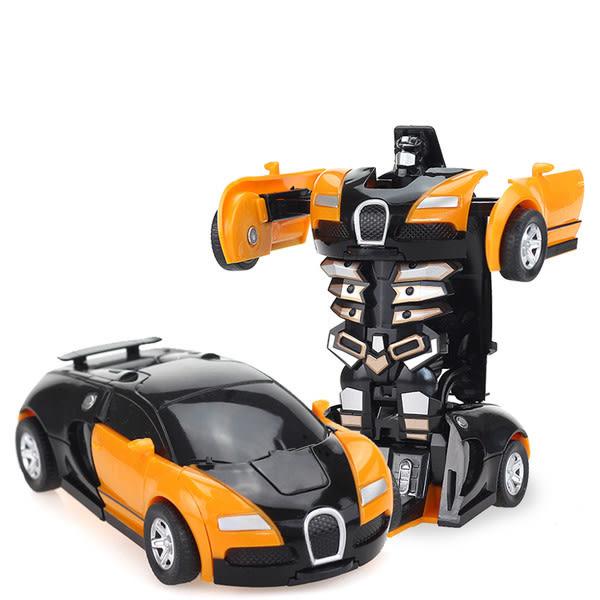 現貨 變形金剛5玩具 兒童男孩大黃蜂一鍵慣性撞擊PK汽車機器人 玩具車