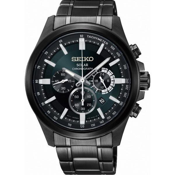 【分期0利率】SEIKO 精工錶 Criteria 光動能 三眼錶 藍寶石水晶鏡面 43mm原廠公司貨 SSC691P1