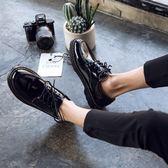 皮鞋冬季加絨皮鞋男韓版潮流百搭鞋子男學生休閑青少年英倫黑色小皮鞋99免運 二度
