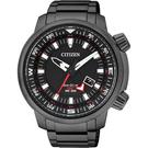 CITIZEN PROMASTER 光動能雙時區腕錶-黑/ 46mm BJ7086-57E