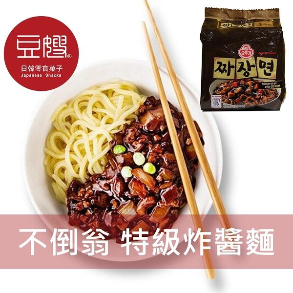 【豆嫂】韓國泡麵 不倒翁 特級炸醬麵(4入/袋)
