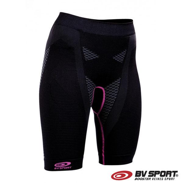 法國 BV SPORT N3R 機能運動短褲 610/107『黑色/灰色/粉紅色』運動褲 緊身褲 慢跑 透氣