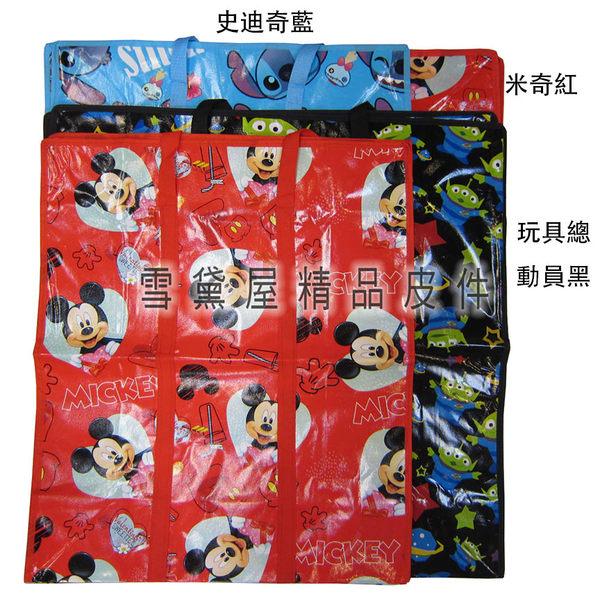 ~雪黛屋~批發袋旅行袋購物袋防水由底部加強耐重車縫PVC尼龍布摺疊壓扁收納正版授權#6887(S)
