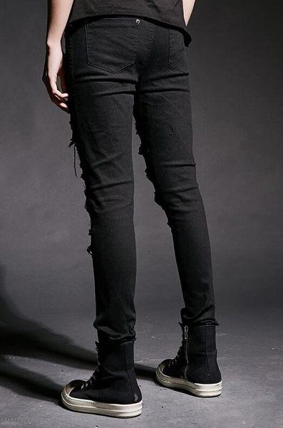 找到自己 韓國潮流 個性 破洞 黑 修身 街頭潮男 夜店 DJ 發型師 必備 窄管牛仔褲 直筒褲 小腳褲