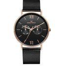 Max Max 時尚 米蘭帶 手錶 (MAS7018-1) 黑/39mm
