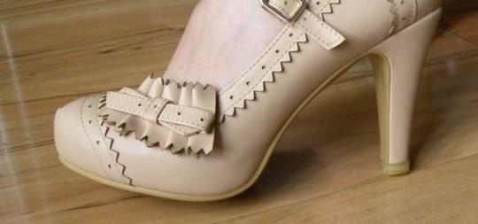 甜美粉紅公主蝴蝶結防水台高跟新款單鞋女  -yrre00251