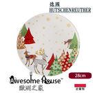 德國 獅牌 聖誕 28cm 圓盤 麋鹿  HUTSCHENREUTHER