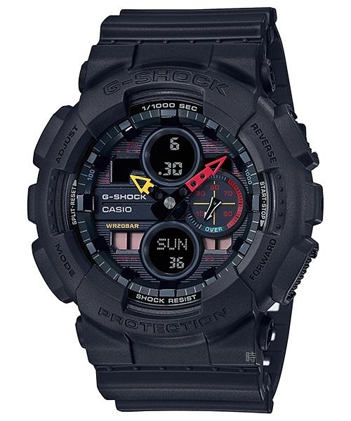 CASIO 卡西歐 G-SHOCK 運動 指針 軍用手錶(GA-140BMC-1A)