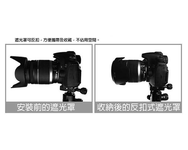 攝彩商城@Canon佳能 植絨款EW-83E 蓮花型遮光罩 7D 5D3 17-40/20-35/16-35mm 可反扣
