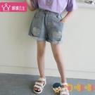 女童牛仔短褲兒童外穿短褲中大童熱褲夏款褲【淘嘟嘟】