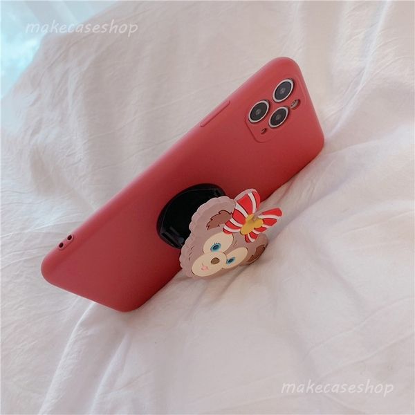 泰迪小熊 三星 Note20 Ultra Note10 Note10+ 手機殼 創意個性 直邊液態 保護鏡頭 摺疊伸縮 影片支架