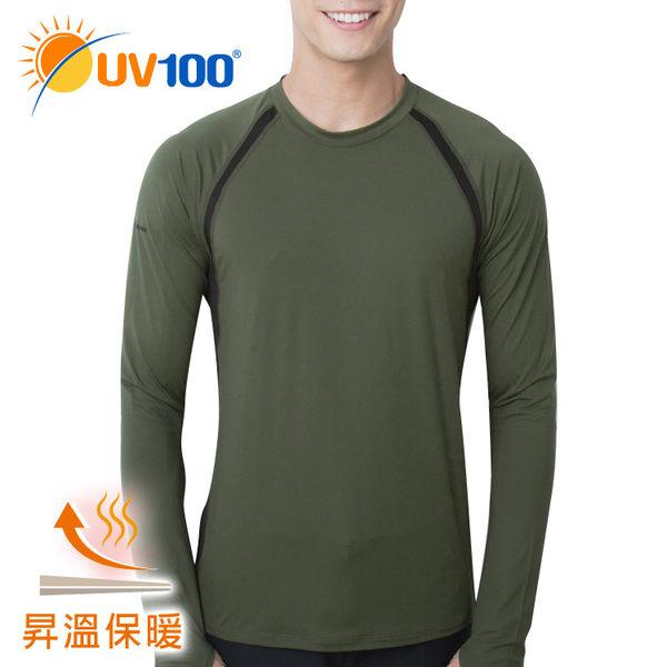 UV100 防曬 抗UV 昇溫保暖-速乾透氣長袖上衣-男