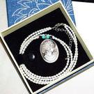 【喨喨飾品】珍珠鍊/貝殼美人墜飾 M382