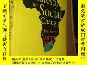 二手書博民逛書店A罕見Manifesto for Social ChangeY1