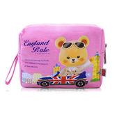 (滿3件$399)英國貝爾-粉紅童話帆布化妝包~指定商品需滿3件以上才可出貨