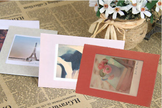 韓國Bentoy創意相框6色卡片相框附信封套