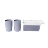 LOLAT磁吸式杯架-兩杯組(灰)A9270GP