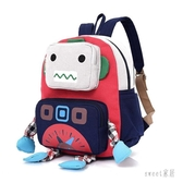 兒童書包機器人小朋友女童男童卡通雙肩背包帆布2-3-4歲幼兒園 LR10331【Sweet家居】