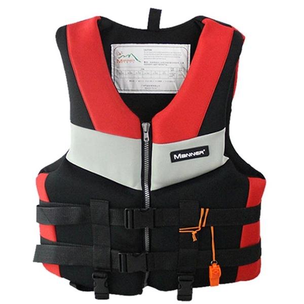Manner大浮力救生衣背心成人兒童便攜釣魚馬甲浮潛專業游泳浮潛衣  ATF  極有家