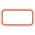 《享亮商城》3065 (紅)保護膜標籤 11*21mm  鶴屋