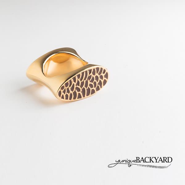 yunique Backyard  雙面琺瑯戒指