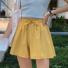 【Charm Beauty】雪紡 休閑 短褲 女寬松 運動 夏季 新款 薄款 松緊 韓版 高腰 冰絲 闊腿褲