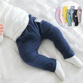 長褲 嬰兒寶寶小雞螺紋高腰打底褲 W75029 AIB小舖