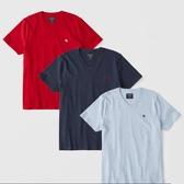 【福利超值出清價】紅/藍/天空藍 A&F 麋鹿 短T 3 件組 短袖 男 Abercrombie Fitch 美國代購