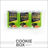 韓國 煙燻 鮭魚 海苔 3入 零食 *餅乾盒子*