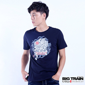 Big Train 侍魂武者短袖圓領T-丈青-Z2018358