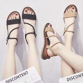 涼鞋-羅馬涼鞋女夏平底新款百搭韓版學生休閒簡約chic坡跟網紅女鞋 好再來小屋
