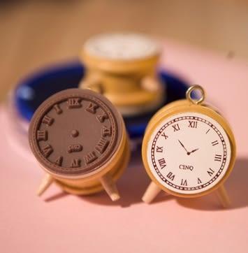 時鐘 日記 木質 印章 現貨