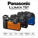 【登入送原電*2+32G~12/31】Panasonic TS7 防水相機 ★64G+24期★ 31米防水 4K  WIFI 公司貨 薪創數位