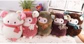 嘟嘟羊公仔卡通小羊駝情侶抱枕暖手捂大號毛絨玩具