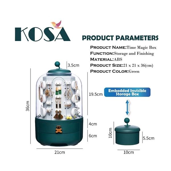 [2美國直購] KOSA High-End Fashion 珠寶收納盒 Jewelry Earrings Storage Rack Can Rotate The Large-Capacity