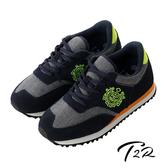 【韓國T2R】韓國T2R丹寧時尚內增高6公分休閒鞋-灰藍(5600-0223)