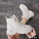馬丁靴馬丁靴女新款春季學生韓版百搭短筒靴子秋款英倫短靴 快速出貨