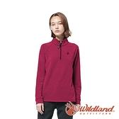【wildland 荒野】女 POLARTEC功能上衣『桃紅』P2605 戶外 休閒 運動 露營 登山 吸濕 排汗 快乾 舒適