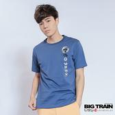 Big Train 家徽墨魂圓領T-男-中藍色-Z8010452