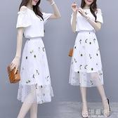 2020新款夏季小清新連身裙小個子韓版仙女超仙甜美網紗兩件套裝裙『小淇嚴選』